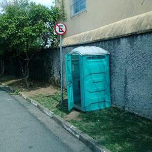 Banheiro químico aluguel